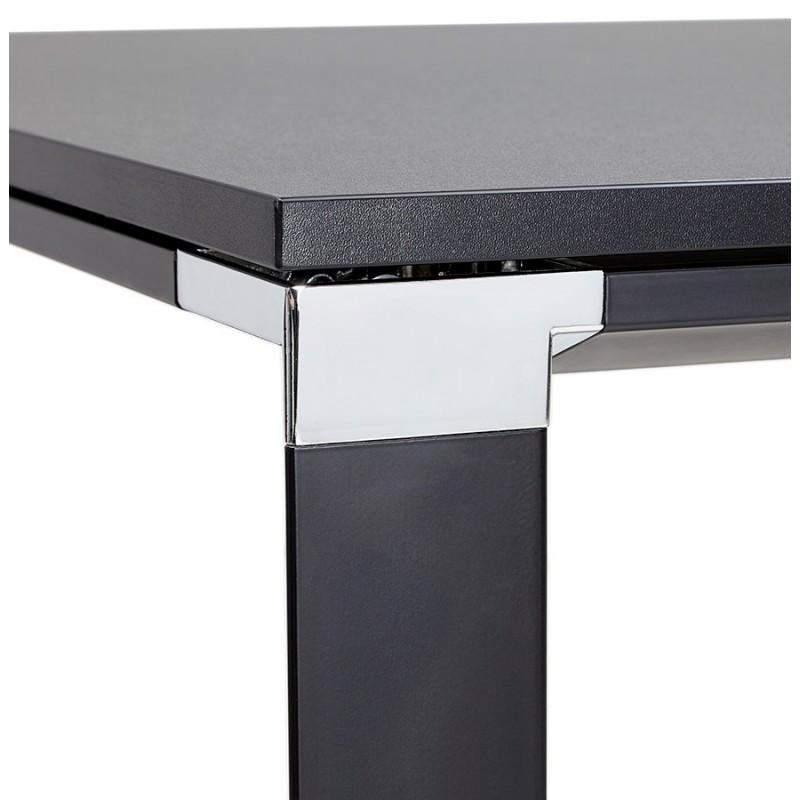 Bureau droit design en bois pieds noirs BOUNY (140x70 cm) (noir) - image 49651