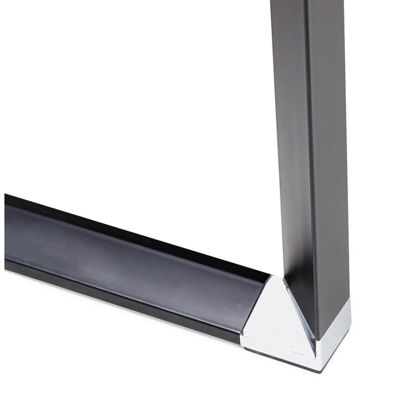 Holz-Design Schreibtisch aus holz schwarze Füße BOUNY (140x70 cm) (schwarz) - image 49652