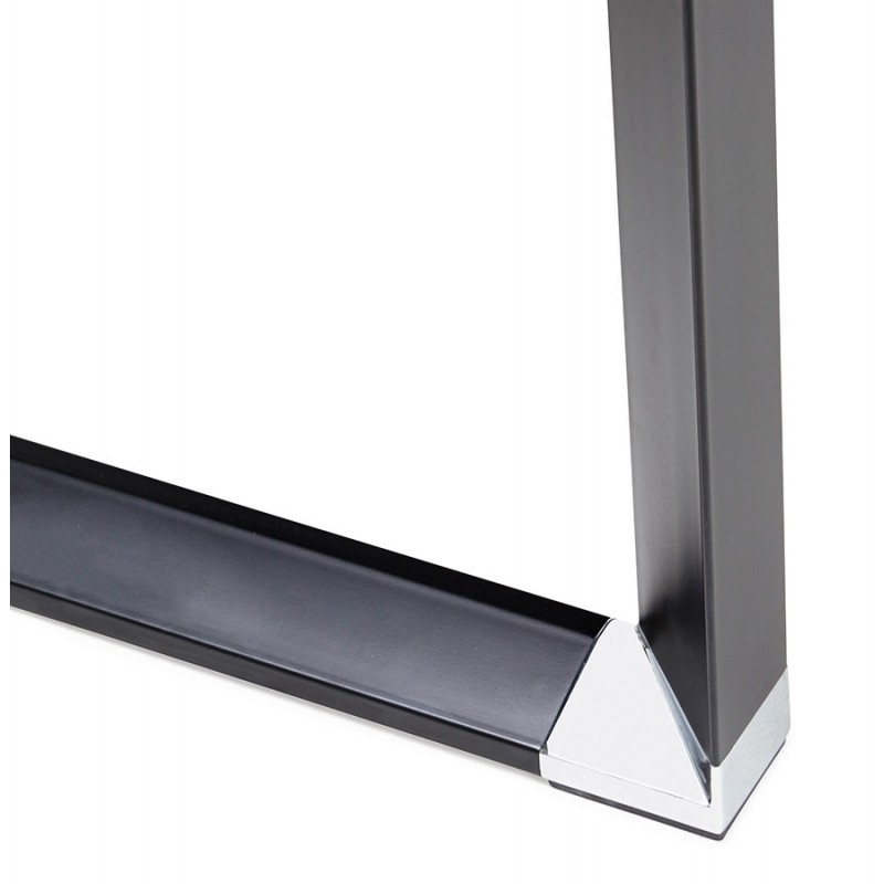 Disegno ufficio destro piedi neri in legno BOUNY (140x70 cm) (nero) - image 49652