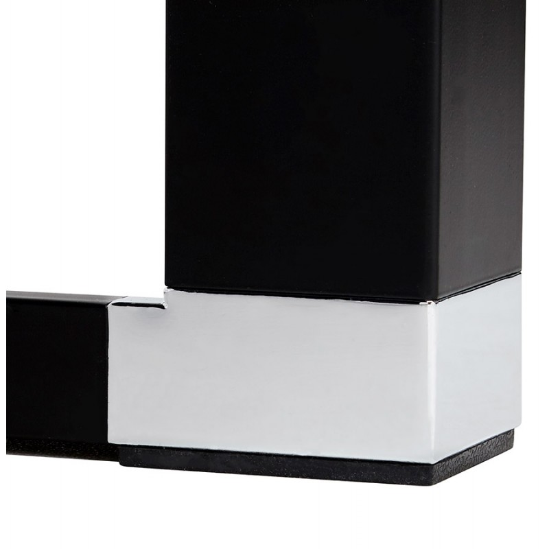 Bureau droit design en bois pieds noirs BOUNY (140x70 cm) (noir) - image 49653
