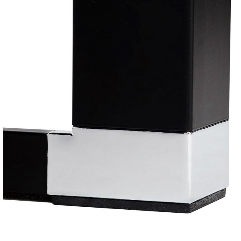 Holz-Design Schreibtisch aus holz schwarze Füße BOUNY (140x70 cm) (schwarz) - image 49653