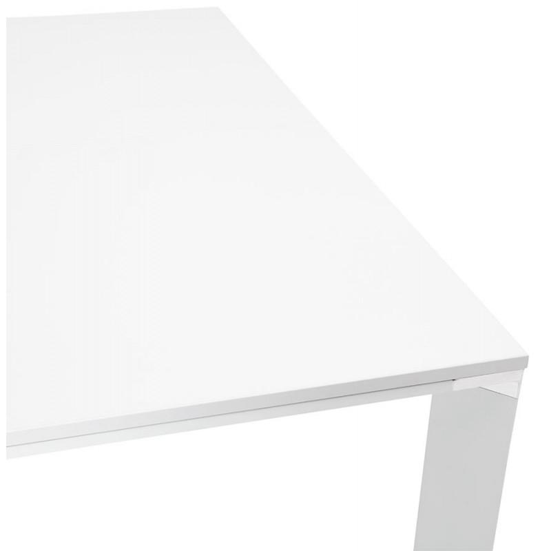 Bureau BENCH table de réunion moderne en bois pieds blanc RICARDO (160x160 cm) (blanc) - image 49657