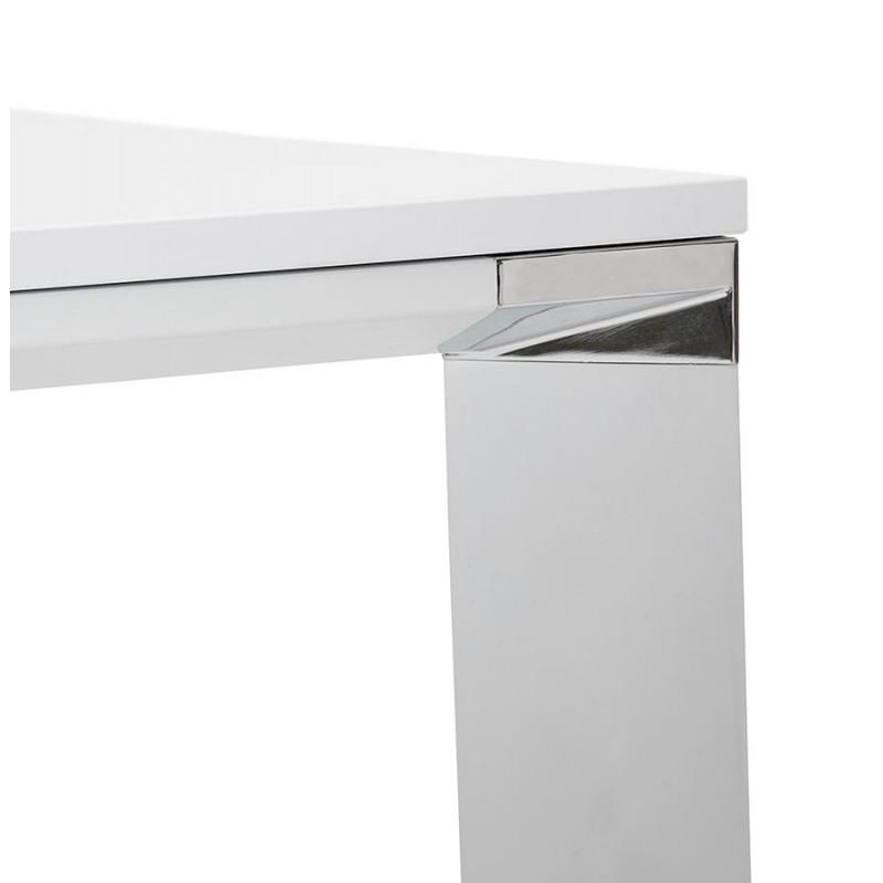 Bureau BENCH table de réunion moderne en bois pieds blanc RICARDO (160x160 cm) (blanc) - image 49658
