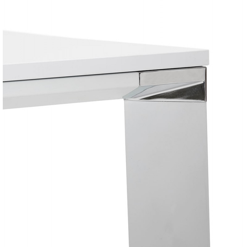 BENCH escritorio moderna mesa de reuniones pies blancos de madera RICARDO (160x160 cm) (blanco) - image 49658