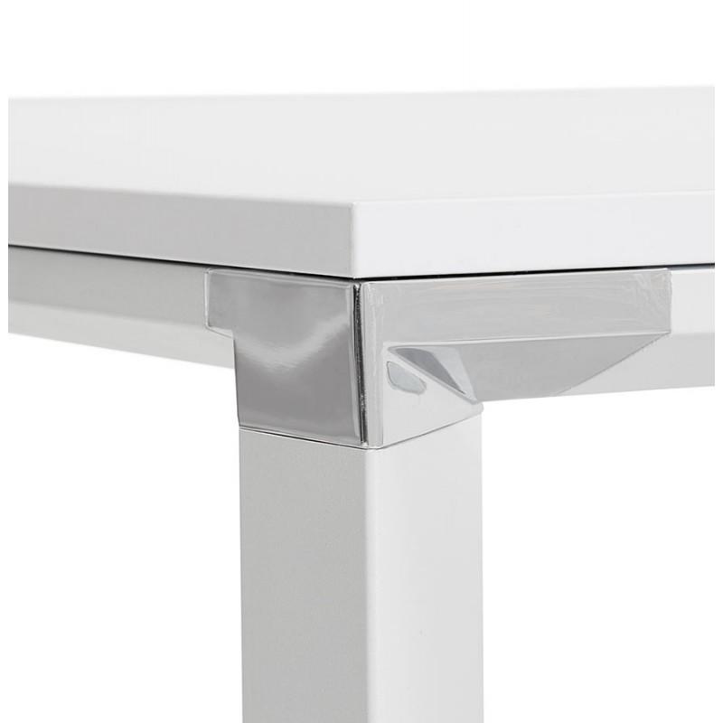 Bureau BENCH table de réunion moderne en bois pieds blanc RICARDO (160x160 cm) (blanc) - image 49660