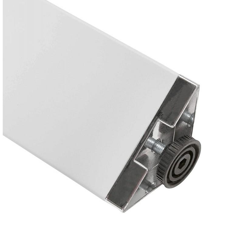 Bureau BENCH table de réunion moderne en bois pieds blanc RICARDO (160x160 cm) (blanc) - image 49662