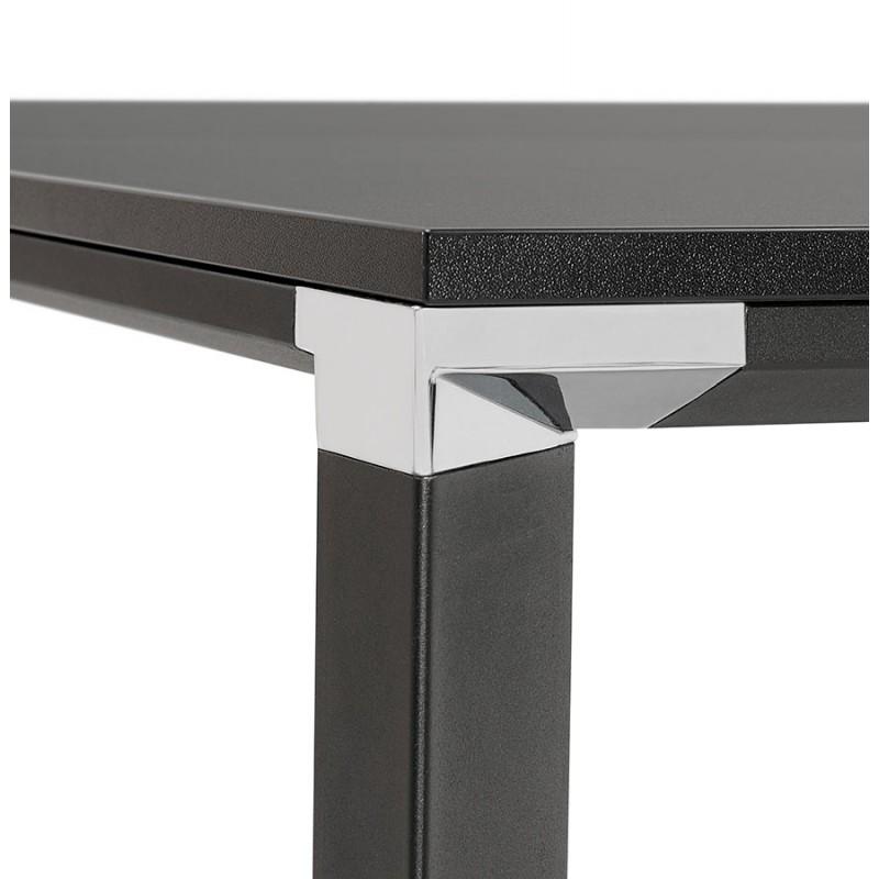 Bureau BENCH table de réunion moderne en bois pieds noirs RICARDO (160x160 cm) (noir) - image 49670