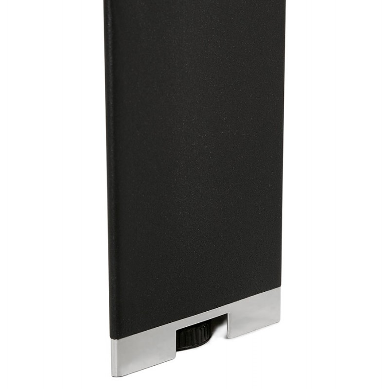 Bureau BENCH table de réunion moderne en bois pieds noirs RICARDO (160x160 cm) (noir) - image 49671