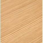 Bureau BENCH table de réunion moderne en bois pieds blancs RICARDO (160x160 cm) (naturel)