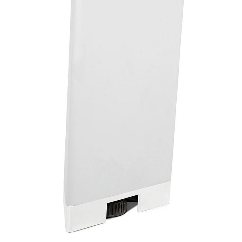 Bureau BENCH table de réunion moderne en bois pieds blancs RICARDO (160x160 cm) (naturel) - image 49702