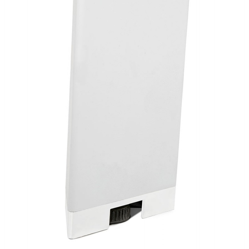 Büro BENCH Tisch moderne Holz-Tisch weiße Füße RICARDO (160x160 cm) (natürlich) - image 49702