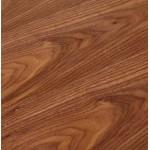 Bureau BENCH table de réunion moderne en bois pieds blancs RICARDO (160x160 cm) (noyer)