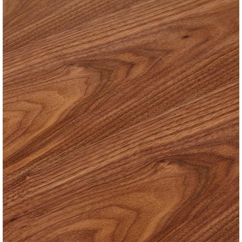 Bureau BENCH table de réunion moderne en bois pieds blancs RICARDO (160x160 cm) (noyer) - image 49706