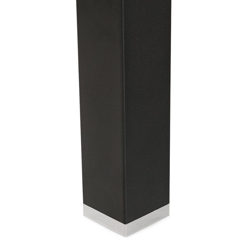 Bureau BENCH table de réunion moderne en bois pieds noirs RICARDO (160x160 cm) (naturel) - image 49713