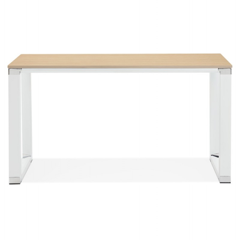 Right office design wooden white feet BOUNY (140x70 cm) (natural) - image 49722