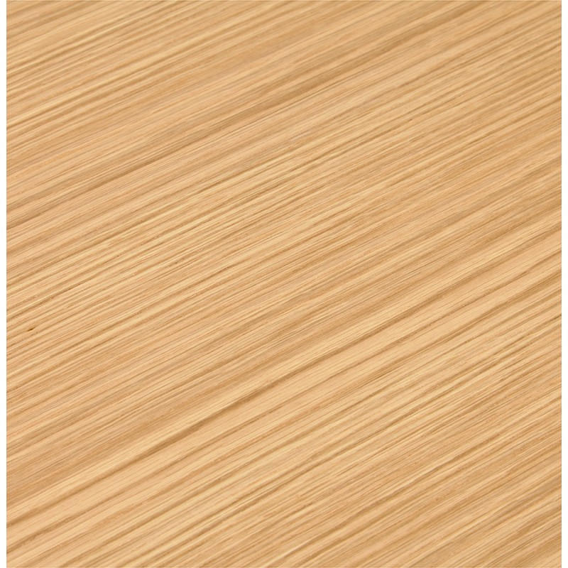 Geraden Design-Schreibtisch aus weißem Holzfuß BOUNY (140x70 cm) (natürlich) - image 49723
