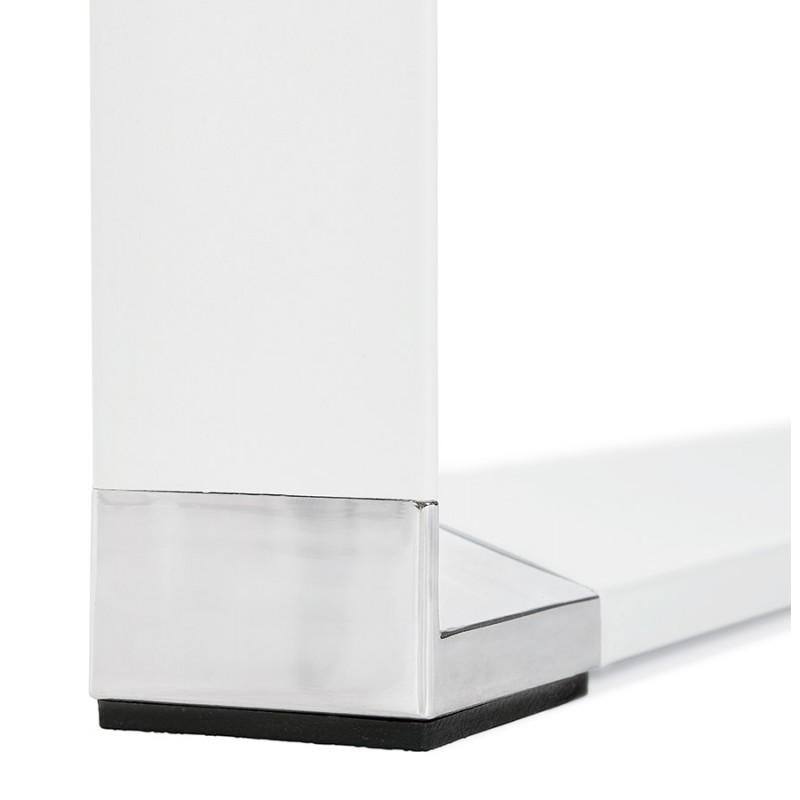 Bureau droit design en bois pieds blancs BOUNY (140x70 cm) (naturel) - image 49725