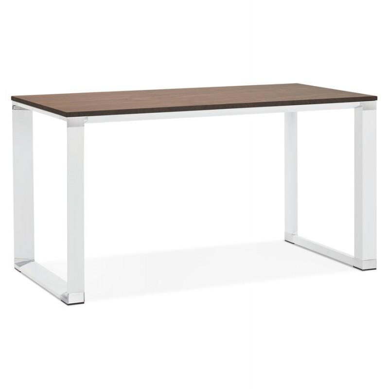 Disegno ufficio destro piedi bianchi in legno BOUNY (140x70 cm) (affogamento)