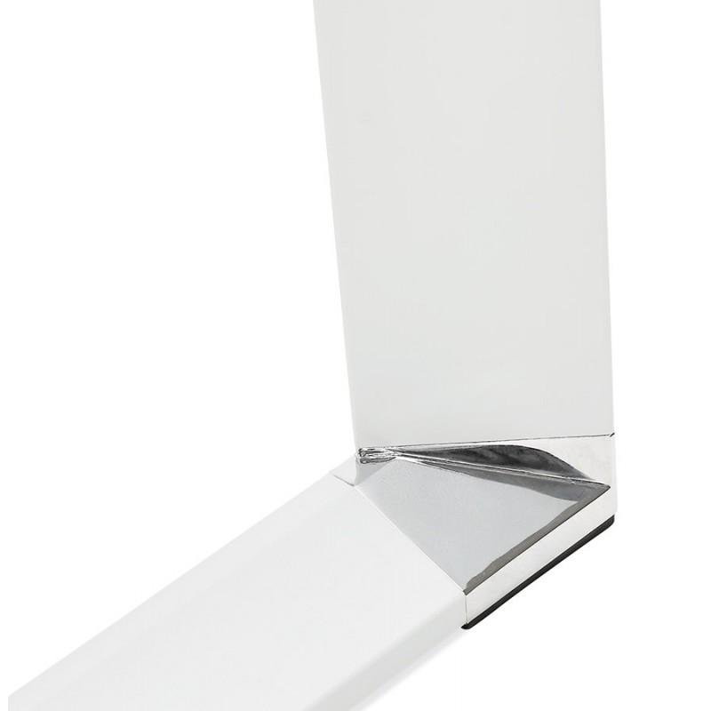 Bureau droit design en bois pieds blancs BOUNY (140x70 cm) (noyer) - image 49732