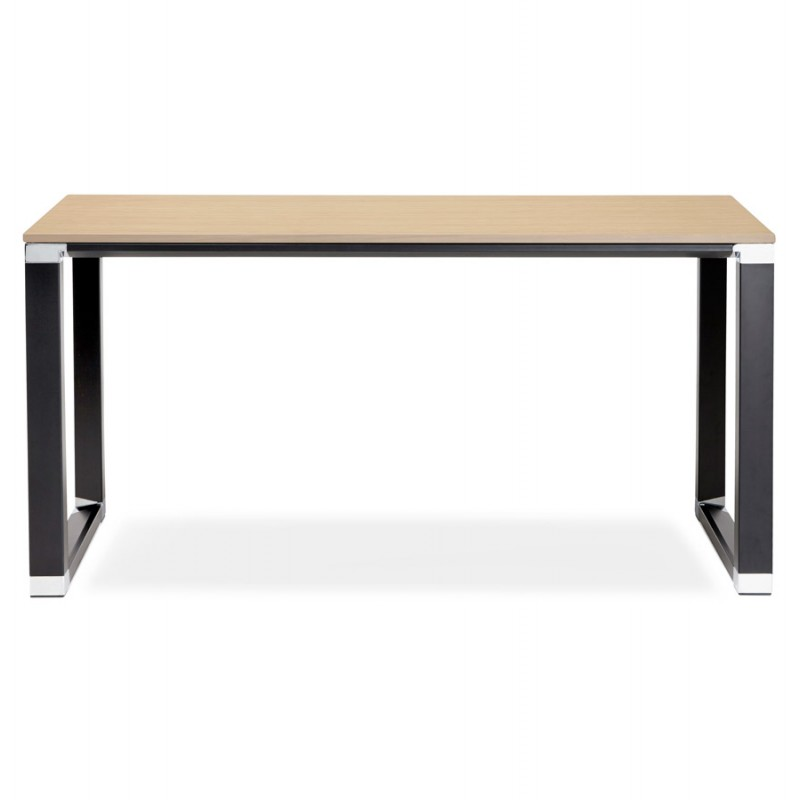 Right office design wooden black feet BOUNY (140x70 cm) (natural) - image 49734