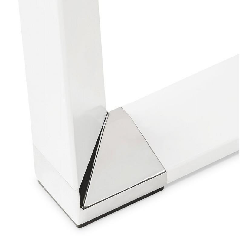 Scrivania destra design vetro imbevuto piedi bianchi BOIN (140x70 cm) (bianco) - image 49754