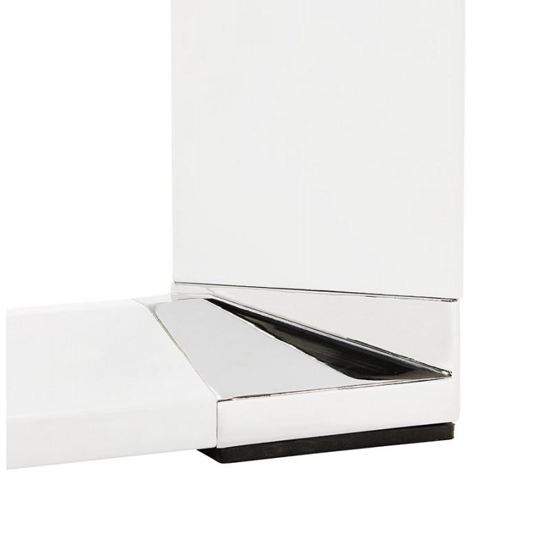 Bureau droit design en verre trempé pieds blancs BOIN (140x70 cm) (blanc) - image 49755