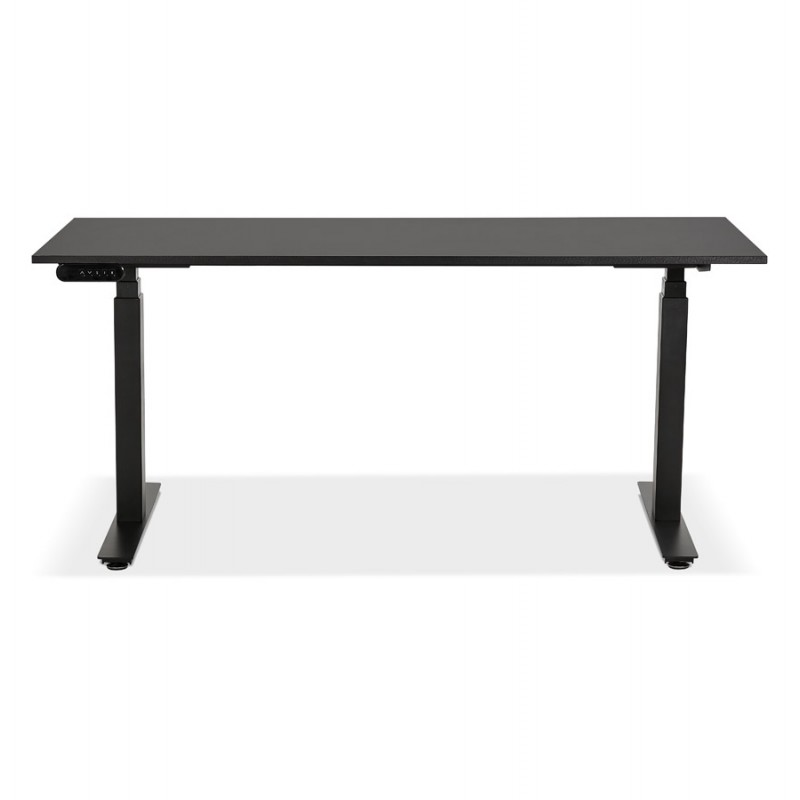 Pies negros de madera eléctrica sentados KESSY (160x80 cm) (negro) - image 49819