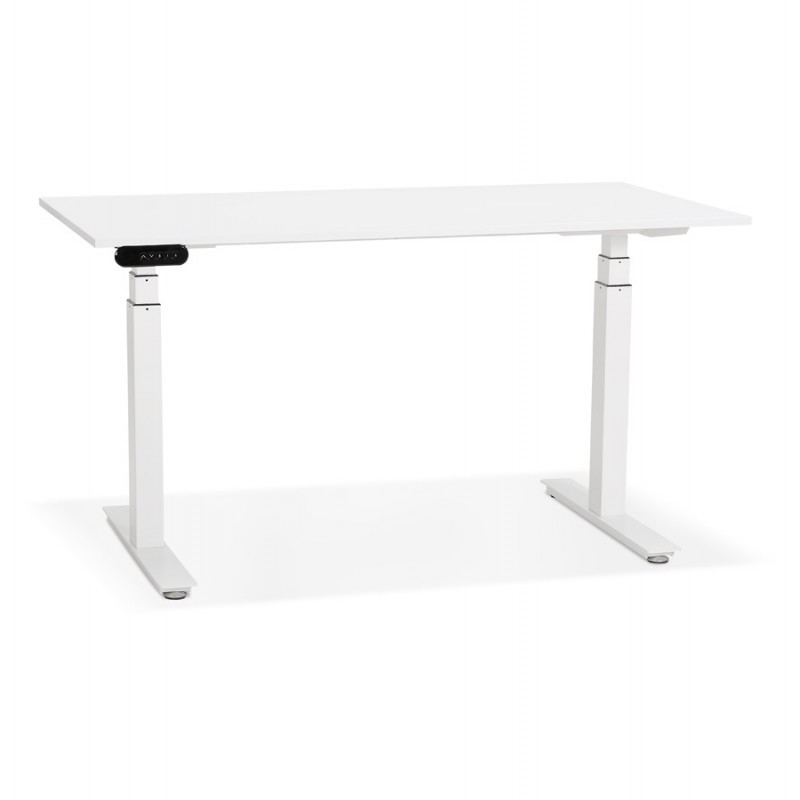 Seated standing electric wooden white feet KESSY (140x70 cm) (white) - image 49843