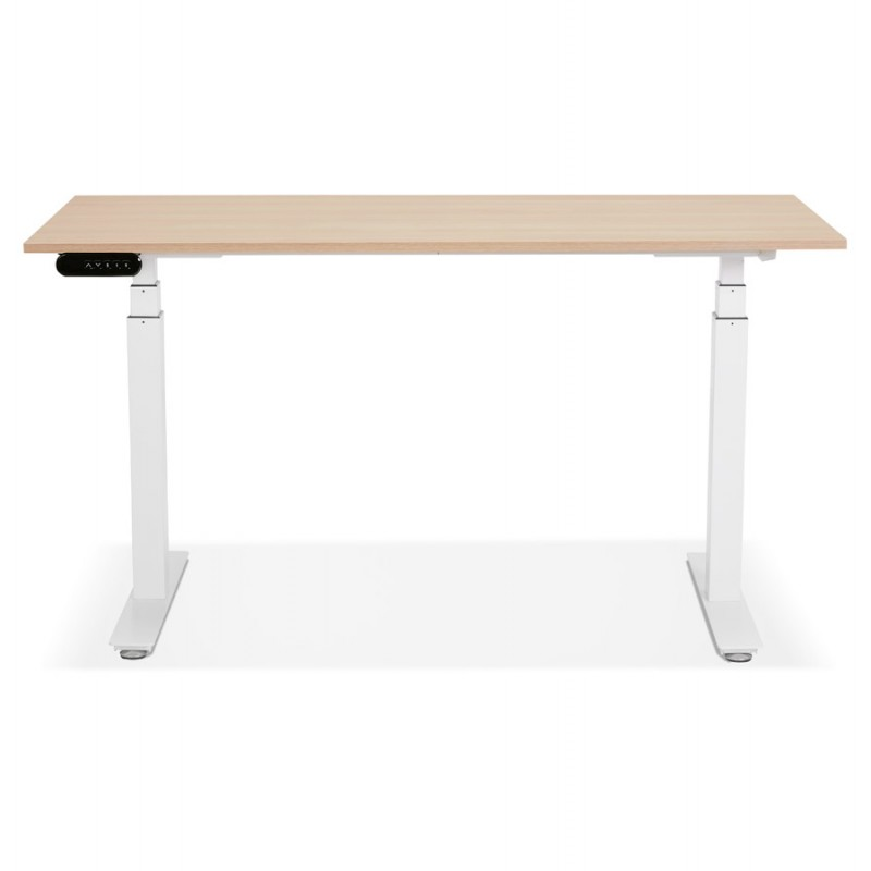 Seated standing electric wooden white feet KESSY (140x70 cm) (natural finish) - image 49851