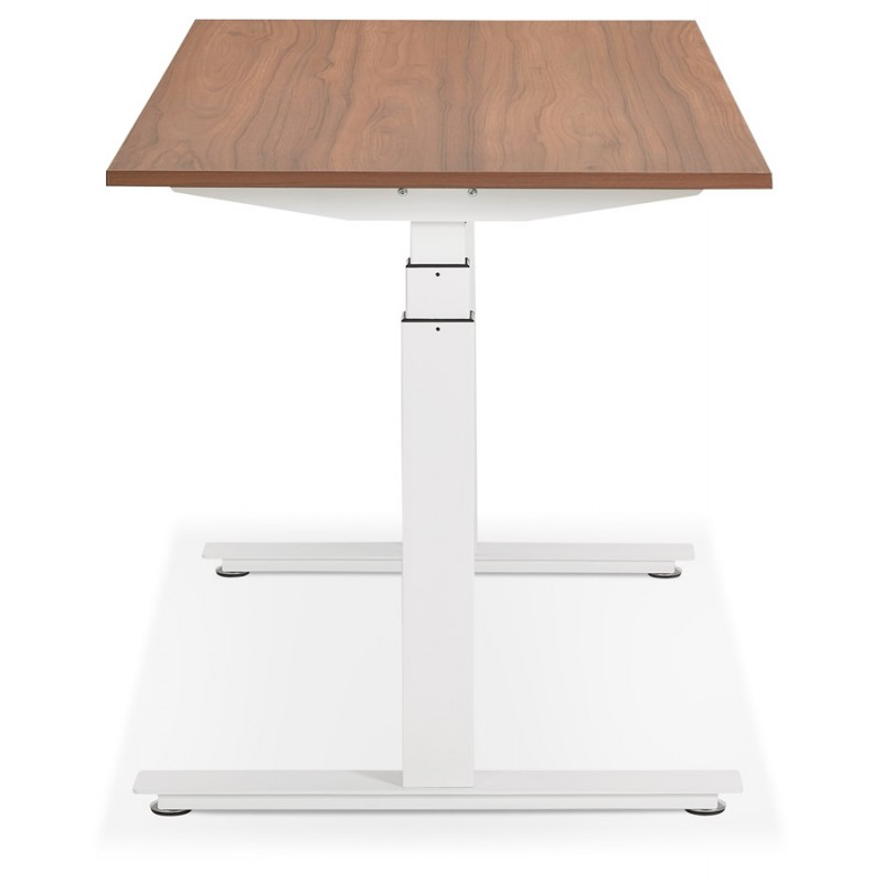 Seated standing electric wooden white feet KESSY (140x70 cm) (walnut finish) - image 49860