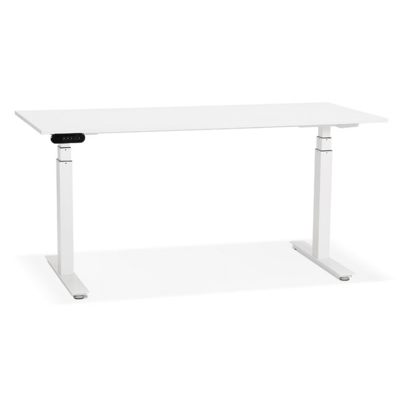 Seated standing electric wooden white feet KESSY (160x80 cm) (white)