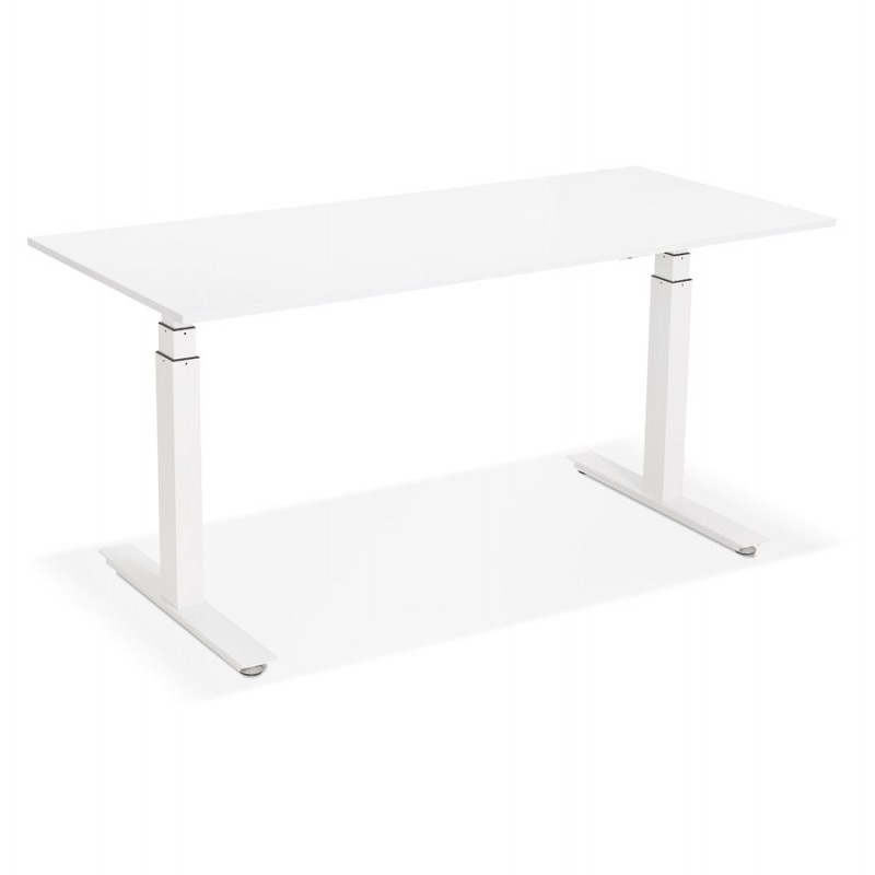 Seated standing electric wooden white feet KESSY (160x80 cm) (white) - image 49869