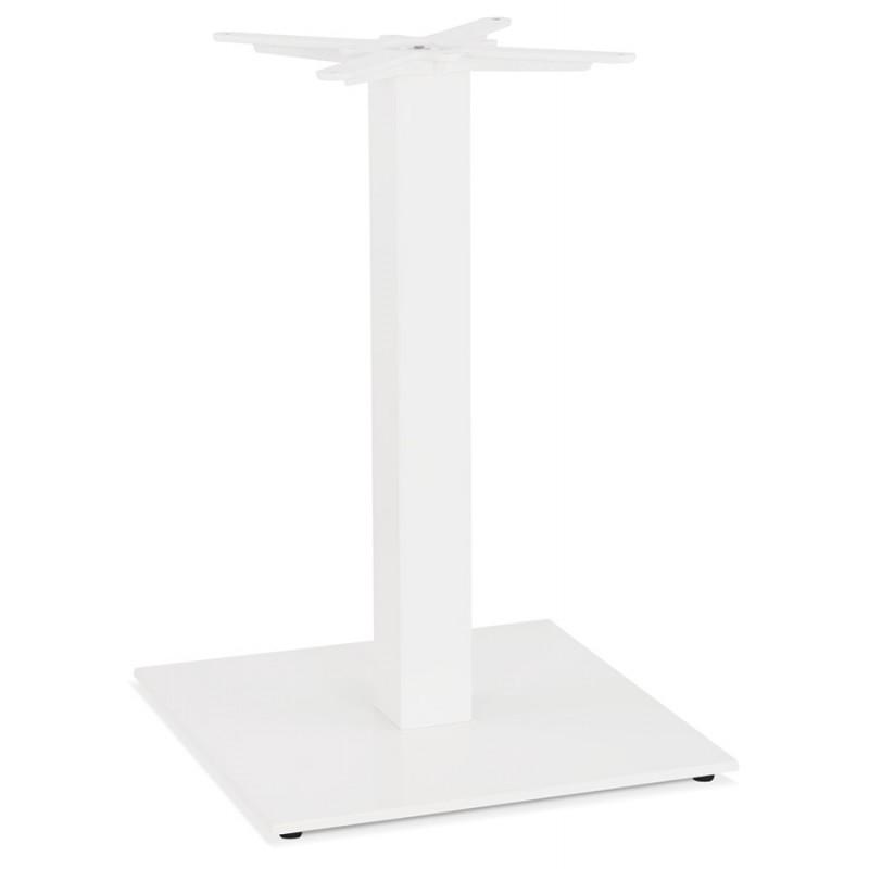 Piano quadrato in metallo EMIE (50x50x73 cm) (bianco)