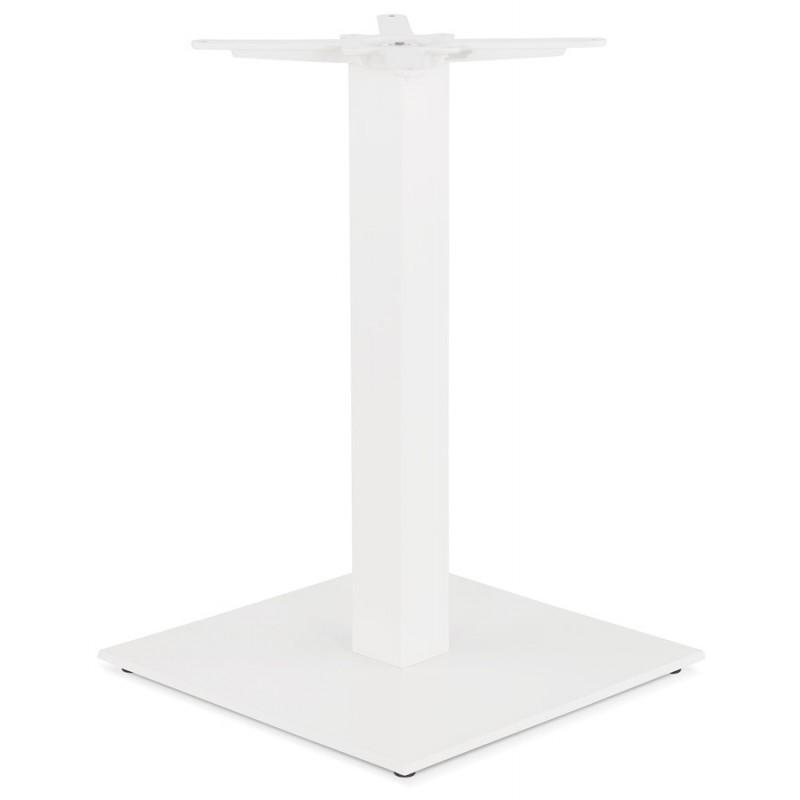 Mesa cuadrada de metal EMIE (50x50x73 cm) (blanco) - image 49916