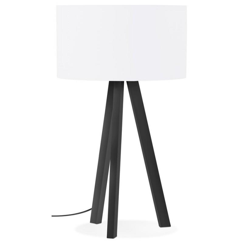 Lampe à poser design avec abat-jour sur trépied noir TRANI MINI (blanc) - image 49952
