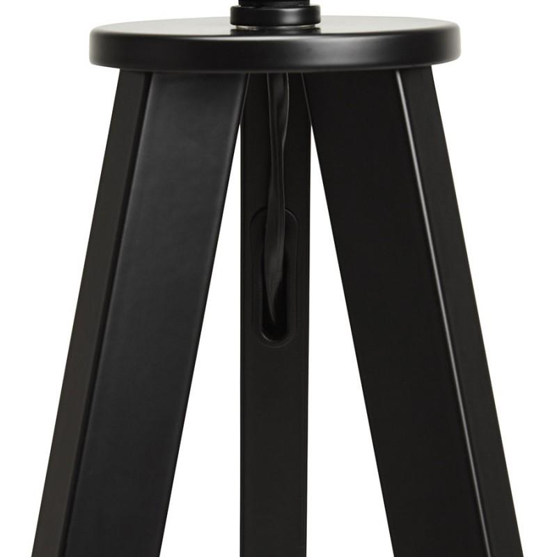 Lampe à poser design avec abat-jour sur trépied noir TRANI MINI (blanc) - image 49959