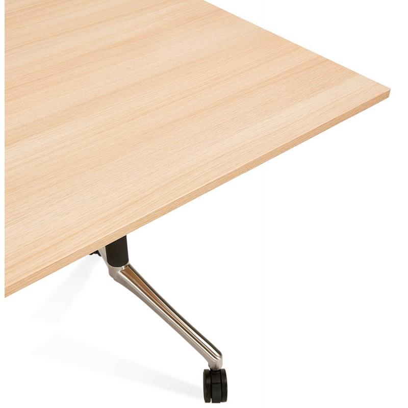 Tavolo a ruote in legno dai piedi neri SAYA (160x80 cm) (finitura naturale) - image 49994