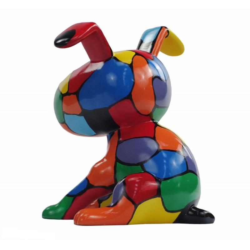 Set de 3 sculptures design CHIEN en résine (multicolore) - image 50004