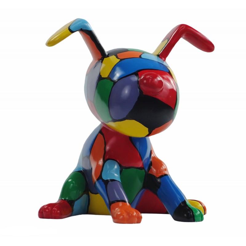 Set de 3 sculptures design CHIEN en résine (multicolore) - image 50007