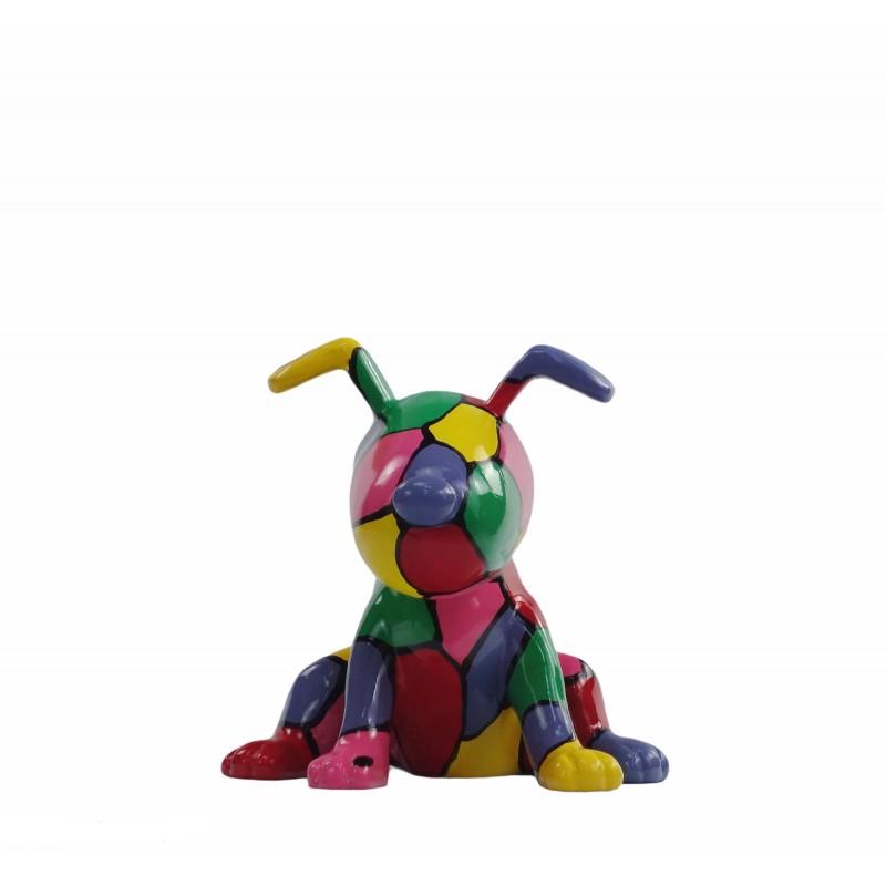 Set de 3 sculptures design CHIEN en résine (multicolore) - image 50009