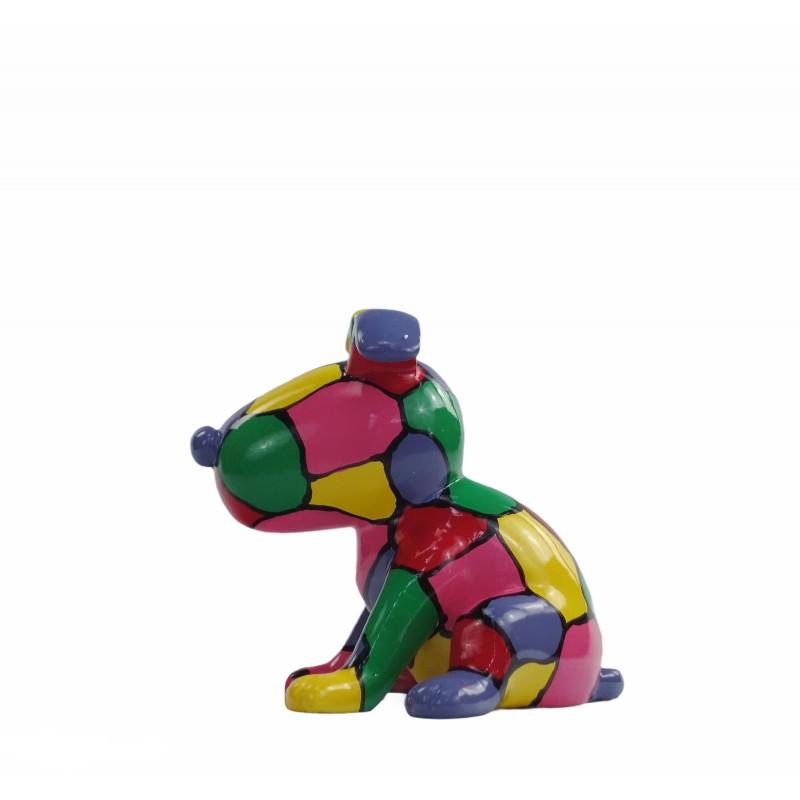Set de 3 sculptures design CHIEN en résine (multicolore) - image 50010