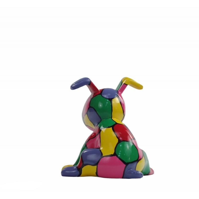 Set de 3 sculptures design CHIEN en résine (multicolore) - image 50011