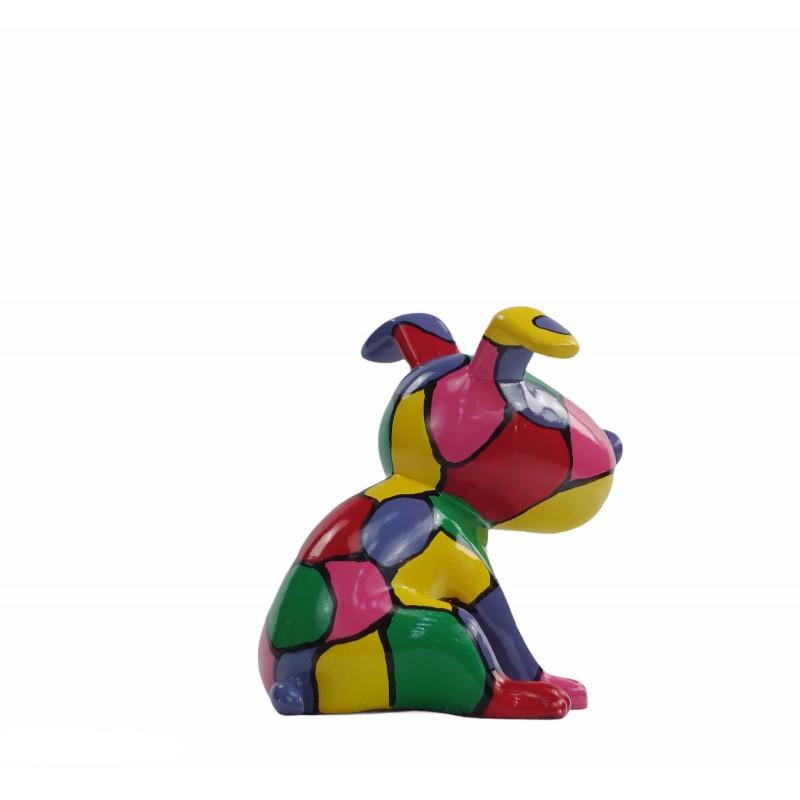 Set de 3 sculptures design CHIEN en résine (multicolore) - image 50012