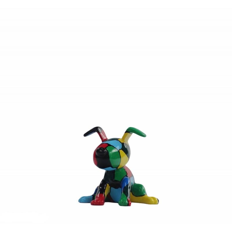 Set de 3 sculptures design CHIEN en résine (multicolore) - image 50016