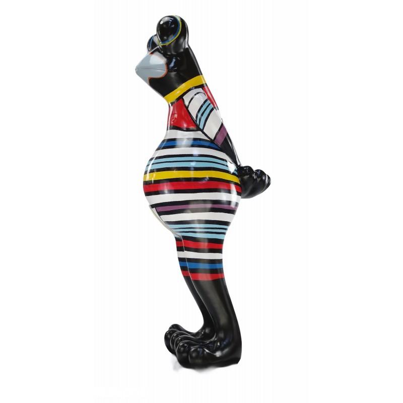 Statue Design dekorative Skulptur Frosch Kratzer im Harz H145 (multicolor) - image 50039