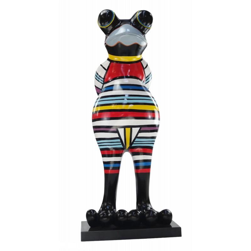 Statue Design dekorative Skulptur Frosch Kratzer im Harz H145 (multicolor) - image 50040