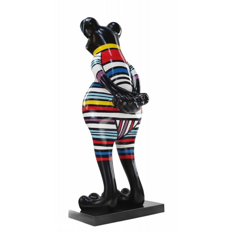 Statue Design dekorative Skulptur Frosch Kratzer im Harz H145 (multicolor) - image 50043