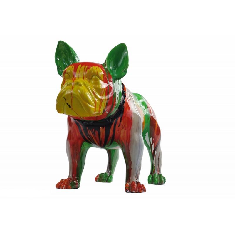 Statue sculpture décorative design CHIEN en résine H43 (multicolore) - image 50048
