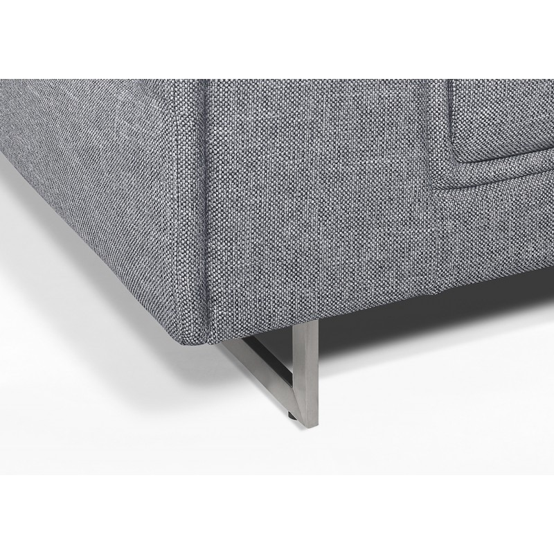 Canapé droit design 2 places avec têtières CYPRIA en tissu (gris) - image 50127