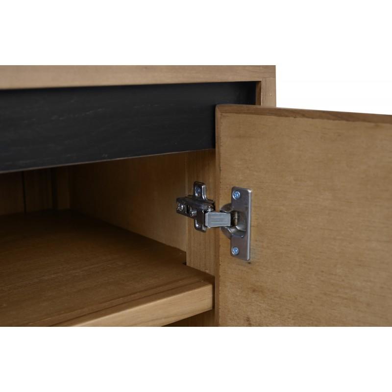 Muebles de TV de teca maciza 2 puertas 2 nichos JENNA (150 cm) (natural) - image 50284